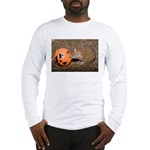 Lesser Tenrec with Pumpkin Long Sleeve T-Shirt