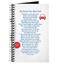 You Passed Road Test Journal