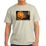 Elephant Shrew With Pumpkin Light T-Shirt