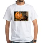 Elephant Shrew With Pumpkin White T-Shirt