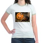 Elephant Shrew With Pumpkin Jr. Ringer T-Shirt