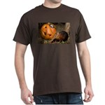 Elephant Shrew With Pumpkin Dark T-Shirt