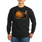 Elephant Shrew With Pumpkin Long Sleeve Dark T-Shi