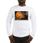 Elephant Shrew With Pumpkin Long Sleeve T-Shirt