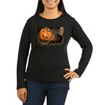 Elephant Shrew With Pumpkin Women's Long Sleeve Da