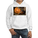 Elephant Shrew With Pumpkin Hooded Sweatshirt