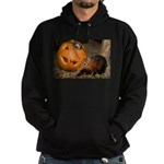 Elephant Shrew With Pumpkin Hoodie (dark)