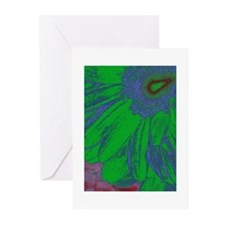 Abstract Gerbera Greeting Cards (Pk of 20)