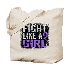 Fight Like a Girl 31.8 Hodgkin's Lymphoma Tote Bag