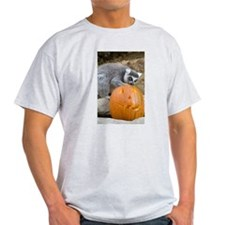 Lemur With Pumpkin T-Shirt