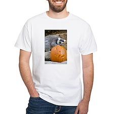 Lemur With Pumpkin White T-Shirt