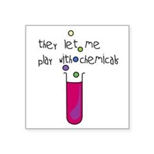Play with Chemicals Rectangle Sticker