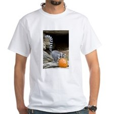 Lemur Pumpkin White T-Shirt