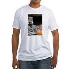 Lemur Pumpkin Fitted T-Shirt