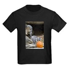 Lemur Pumpkin Kids Dark T-Shirt