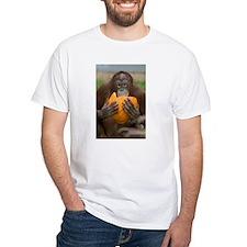 Orangutan with Pumpkin White T-Shirt