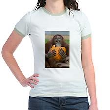 Orangutan with Pumpkin Jr. Ringer T-Shirt