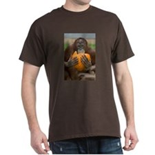 Orangutan with Pumpkin Dark T-Shirt