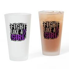 Fight Like a Girl 31.8 Fibromyalgia Drinking Glass