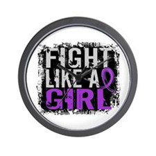 Fight Like a Girl 31.8 Fibromyalgia Wall Clock