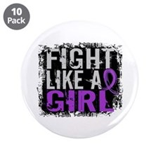 "Fight Like a Girl 31.8 Fibromyalgia 3.5"" Button (1"