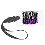 Fight Like a Girl 31.8 Fibromyalgia Luggage Tag