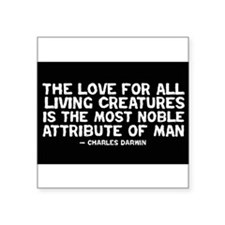 Love of All Creatures - Darwi Rectangle Sticker