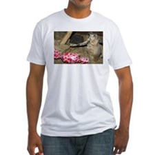 Chipmunk With Present Fitted T-Shirt