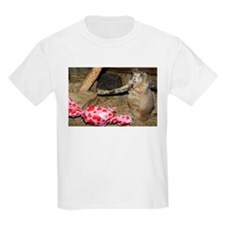 Chipmunk With Present Kids Light T-Shirt