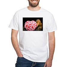 Tamarin With Valentines Gift White T-Shirt