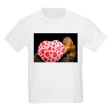 Tamarin With Valentines Gift Kids Light T-Shirt