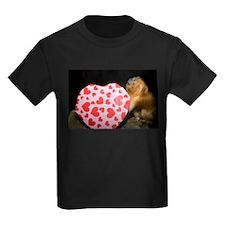 Tamarin With Valentines Gift Kids Dark T-Shirt
