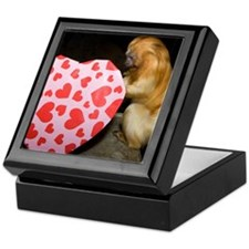 Tamarin With Heart Present Keepsake Box