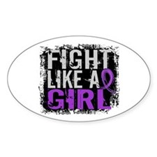 Fight Like a Girl 31.8 Cystic Fibrosis Decal