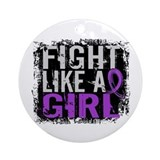 Fight Like a Girl 31.8 Cystic Fibrosis Ornament (R