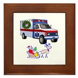 EMT Paramedic Holiday Greetings Framed Tile