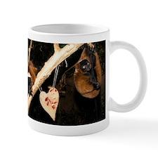 Red Ruffed Lemer With Heart Mug