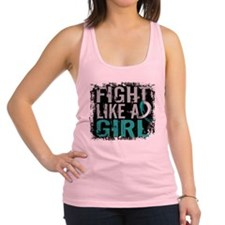 Fight Like a Girl 31.8 Cervical Cancer Racerback T