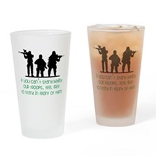 Our Troops Drinking Glass