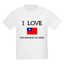 Flag of The Republic Of China Kids T-Shirt