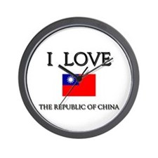 Flag of The Republic Of China Wall Clock