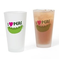 I Love Peas Drinking Glass