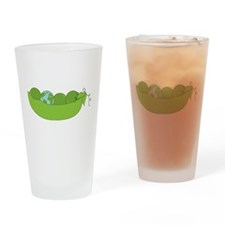 Green World Peas Drinking Glass