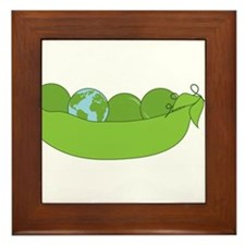 Green World Peas Framed Tile