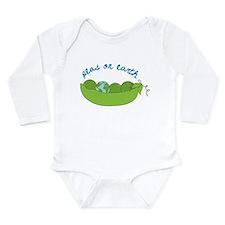 Peas On Earth Long Sleeve Infant Bodysuit