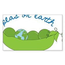 Peas On Earth Decal
