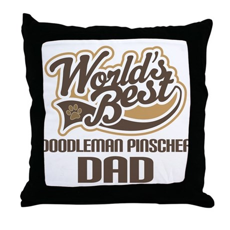 Doodleman Pinscher Dog Dad Throw Pillow
