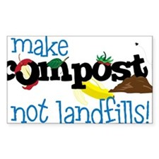 Make Compost Not Landfills Decal