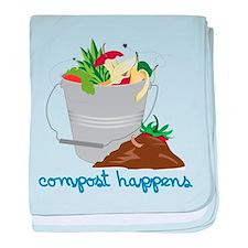 Compost Happens baby blanket