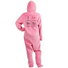 I Lv BeEr [Chemical Elements] Footed Pajamas